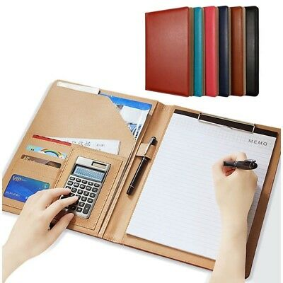 Clipboard Folder Portfolio Leather Storage Cover For Letter Writing Padnotepad