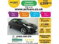 2016 BLACK BMW 218i 1.5 M SPORT PETROL MANUAL 2DR COUPE CAR FINANCE FR £209 PCM