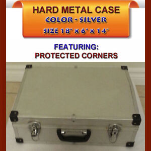 PROTECTIVE SILVER HARD CASE FOR PHOTOGRAPHY EQUIPMENT, ETC.