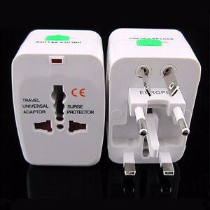 Can US EU AU UK Universal Traveling Power Plug Converter Adapter