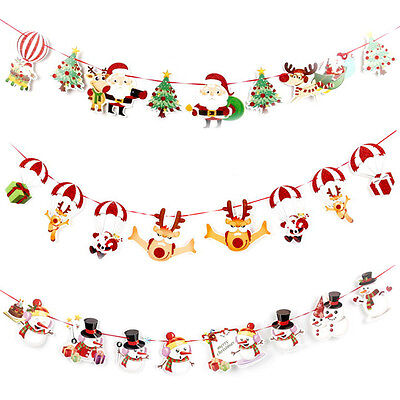 Christmas Party Decor Hanging Snowman Santa Claus Elk - Christmas Party Supplies