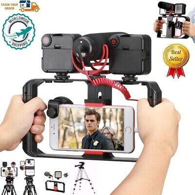 2020 Best Smartphone Rec Video Vlogging Rig Filmmaking Stabilizer Tripod LED