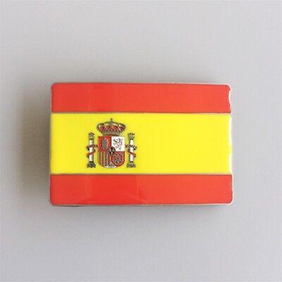 Spain Spanish National Country Flag Metal Belt Buckle