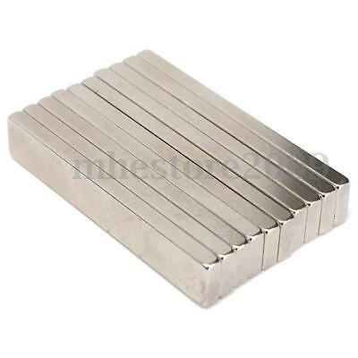 5x Big Long Strong Block Cuboid Magnets 60 X 10 X 4 Mm Rare Earth Neodymium N50
