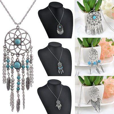 Fashion Metal Dream Catcher Tassel Pendant Feather Wings Bead Charm - Dreamcatcher Jewelry