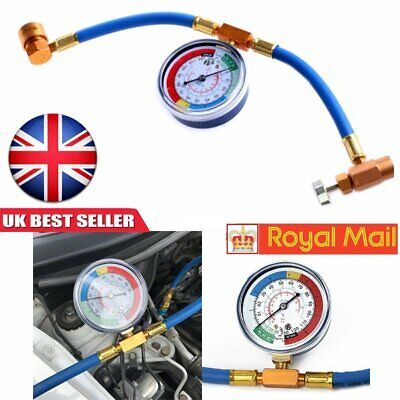 Car Air Conditioning Refrigerant Recharge Measuring Kit Hose Gas Gauge R134A PRO