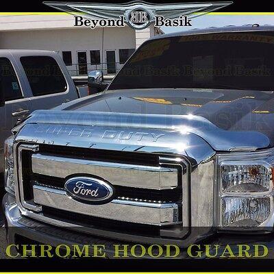 2011-2016 FORD SUPER DUTY Chrome Bug Shield Deflector Hood Guard -