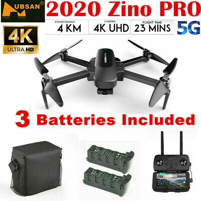 Hubsan Zino PRO FPV Drone 4K 5G Wifi Foldable Quadcopter 3 Gimbal +3 Battery+Bag
