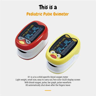 Rechargeable Pediatric Finger Pulse Oximeter Spo2 Pr Blood Oxygen Monitor
