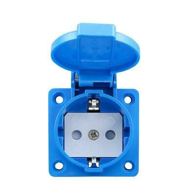 16A Single European EU German Standard Power Outlet Single Plug Wall Socket 250V 16a Single Outlet