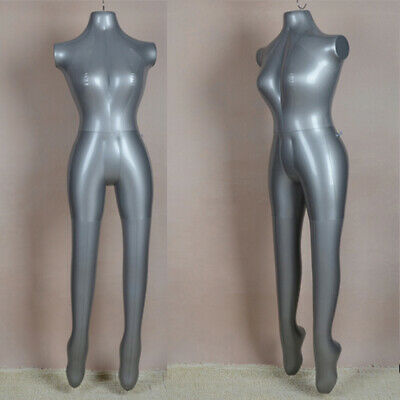 Fashion Female Inflatable Mannequin Display Dummy Torso Body Silver Model 1015