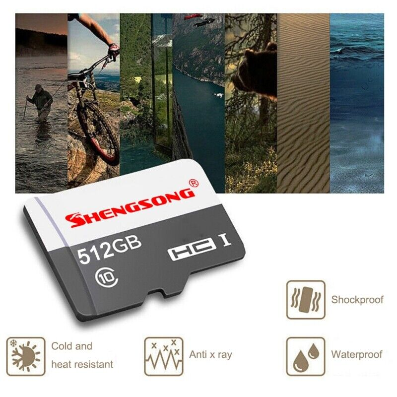 512GB TF Flash Memory Cards U3 C10 MicroData SD-Card Fr Phone Tablets Cameras US