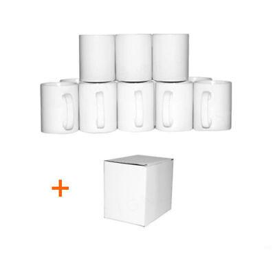 36 White ORCA Double Coated 11oz Small Handle Mugs Sublimation Heat Press Print