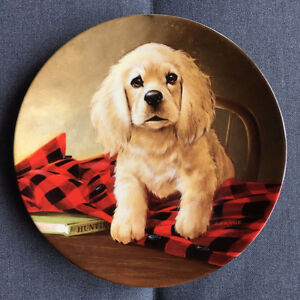 Knowles Collector Plate 1988 - Shirt Tales - The cocker spaniel