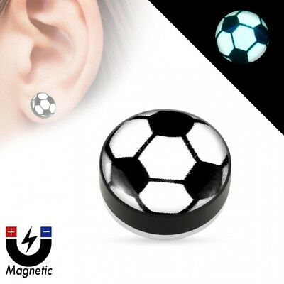 False piercing plug magnetic glow in the dark ball soccer - Soccer Ball Glow In The Dark