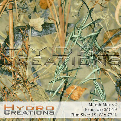 Hydrographic Film For Hydro Dipping Water Transfer Film Marsh Max Camo V2
