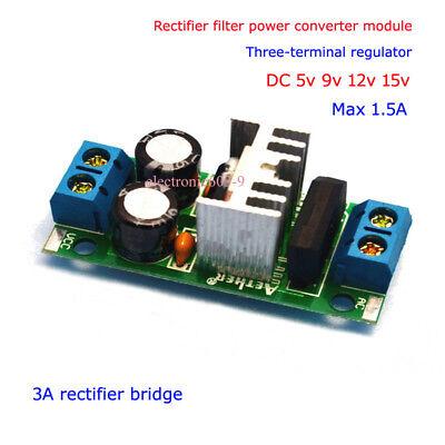 Acdc To 5v-15v Rectifier Filter Voltage Converter Regulator Power Supply Module