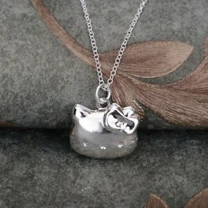 Darling 925 silver plated stamped Hello kitty locket 18