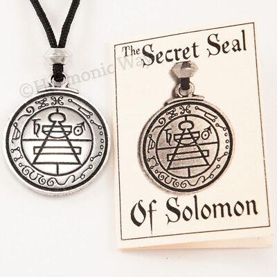 - SOLOMON Necklace SECRET SEAL Talisman Pendant Master Magician Magic Amulet