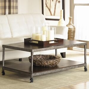 STRUCTUBE White Coffee Table (all metal with wheels) $150