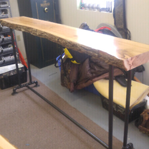 Live Edge Handcrafted Hand Sanded Maple Furniture