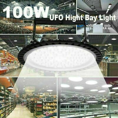 Led High Bay Light 100w Watt Warehouse Led Shop Light Fixture Ufo 8000lm Lamp Wc