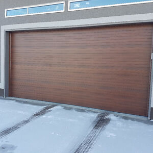 Garage Door - Used 16 x 8 & 9 x 8, contemporary walnut