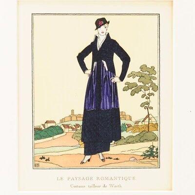 Gazette Du Bon Ton Pochoir Fashion Plate 1914 Bernard Boutet de Monvel France