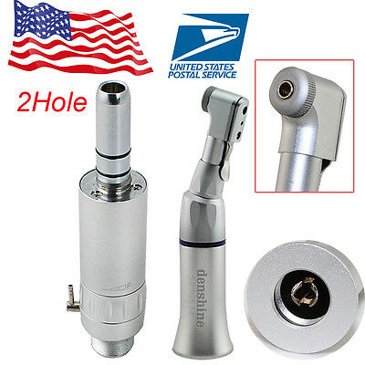 Dental Wrench Type Low Speed Contra Angle Handpiece 2hole Air Motor Autoclavable