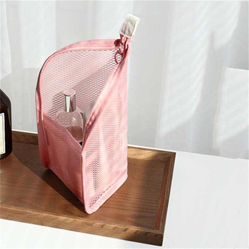 Zipper Toiletry Pouch Cosmetic Bag Toothbrush Waterproof Cos
