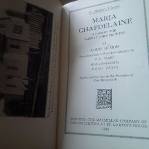 Maria Chapdelaine, by Louis Hemon, 1946 Kitchener / Waterloo Kitchener Area image 2
