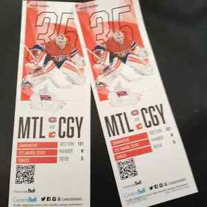 Calgary Flames vs Montreal Canadians at the Bell Centre
