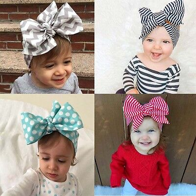 10Pcs Cute Kids Girl Baby Toddler Bow Headband Hair Band Accessories Headwear