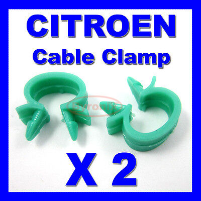 CITROEN WASHER PIPE ACCELERATOR BONNET CABLE WIRING LOOM CLIPS CLAMP HOLDER 10mm