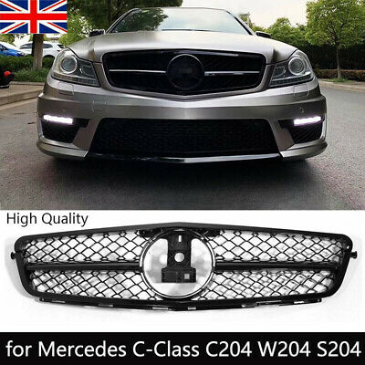 AMG Style Front Radiator Grille for Mercedes C-Class C204 W204 S204 Gloss UK
