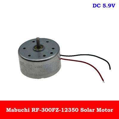 Mabuchi Rf-300fz-12350 Dv 5.9 Mini 24mm Round Spindle Motor Solar Power Model