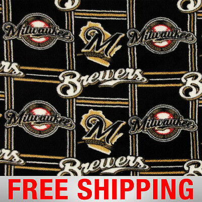 Milwaukee Brewers MLB Fleece Fabric - 60