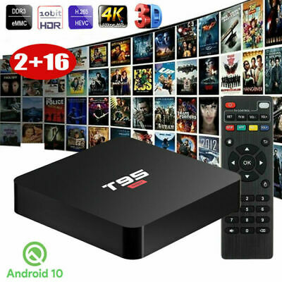 T95 Super Android 10.0 4K HD Smart TV BOX 2+16GB Quad Core 3D Media Streamers US