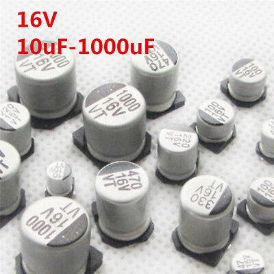 50pcs 16v 10uf 47 100 220 470 1000 Smd Aluminum Electrolytic Capacitor