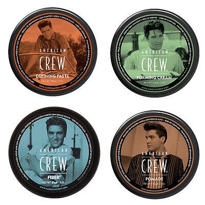 American Crew Pomade  Defining Paste  Fiber  Forming Cream New Elvis Logo 3 Oz