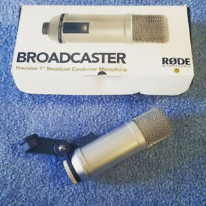 Rode Broadcaster  great mic for podcasts. 300$ or best offer