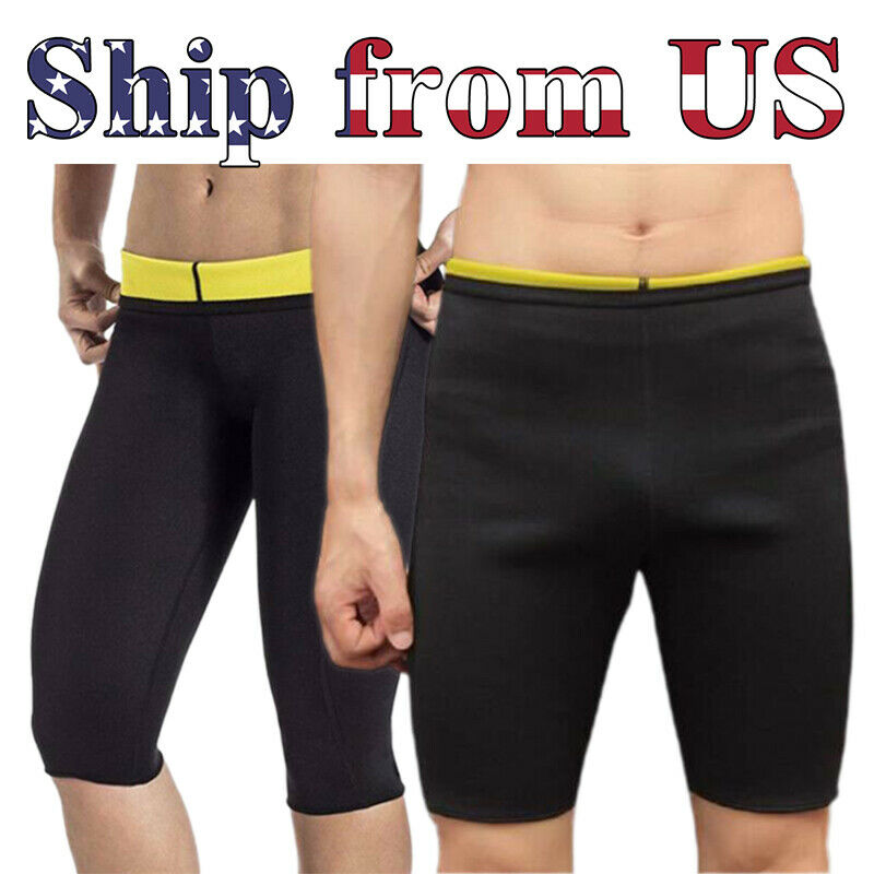 Man's & Women's Thermo Neoprene Sweat Sauna Body Shaper Pants Weight Loss Shorts Clothing, Shoes & Accessories