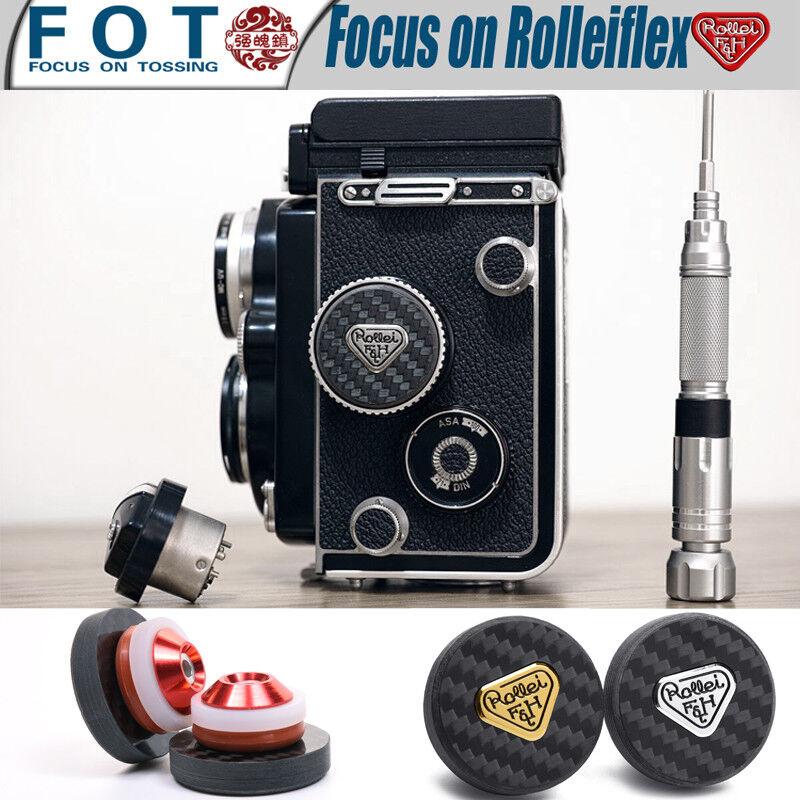 как выглядит Rolleiflex Light meter Decorative plug carbon fiber фото
