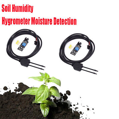 2x Soil Humidity Hygrometer Moisture Detection Sensor Module W Wire For Arduino