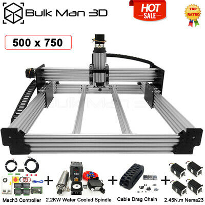 500x750mm 4 Axis Workbee Cnc Router Engraver Machine Full Kit Mach3 2.2kw Water
