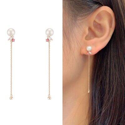 [J.ESTINA] X-Mas Pink Stone Pearl Drop Earrings JJX1EI9AF523SR000 K-beauty