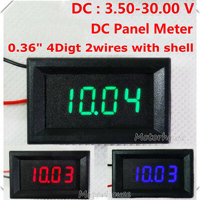 Dc Panel 4 Digital Led Volt Voltage Meter Dc Voltmeter Car Battery 5v 12v 24v