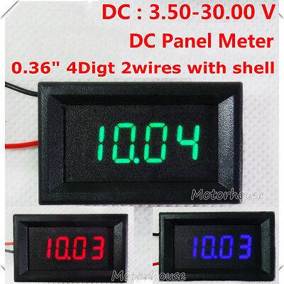 Dc Panel 4 Digital Led Volt Voltage Meter Dc Voltmeter Car Battery 5v 12v 24v
