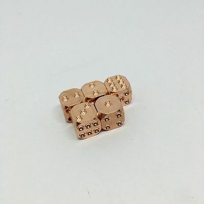 1X EDC Gear Creative Pure Solid Red Copper Dice KTV Entertainment Supplies TZ-02](Entertaining Supplies)