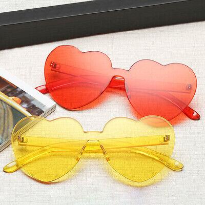 Fashion Girl Heart-shaped Rimless Candy Color Sunglasses Anti-UV  Glasses Women](Glass Hearts)